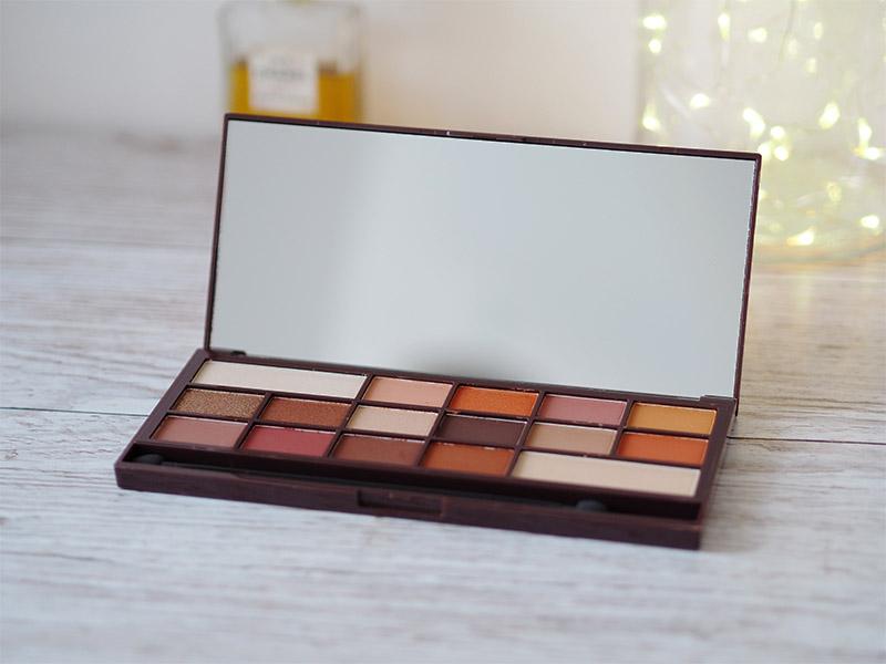 Urban Decay heat palette dupe I heart makeup chocolate orange eyeshadow palette