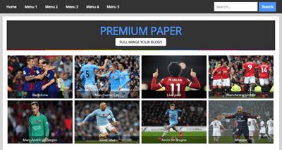 Premium Paper AMP HTML Responsive Blogger Template Fajrin web Id