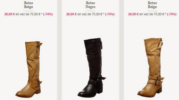 Tres modelos de botas a la venta por 20 euros