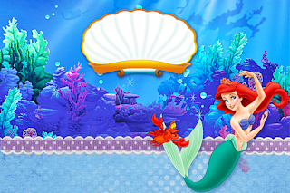 The Little Mermaid Birthday: Free Printable Invitations.