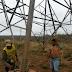 Índios ameaçam derrubar torres da Eletronorte na BR 226; veja as imagens