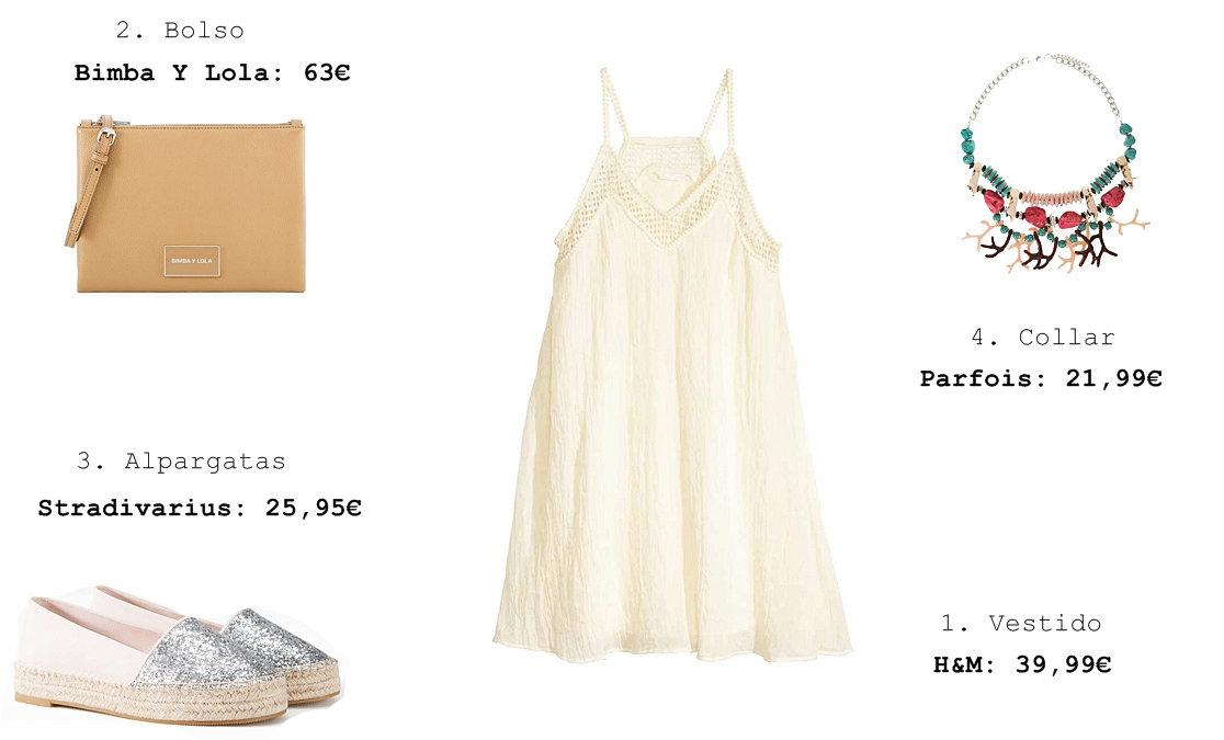 f2a36722e1 Look 1  Un look con un vestido blanco perfecto para dar un paseo por la  tarde