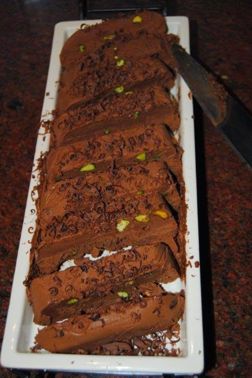 CHOCOLATE AND PISTACHIO SEMIFREDDO
