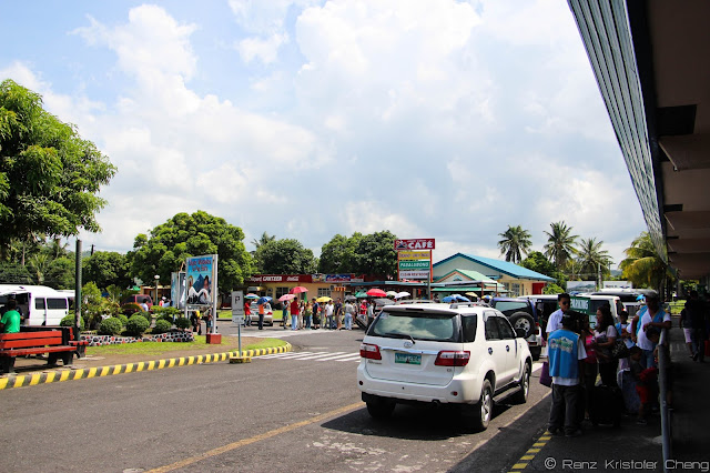 Outside the Legazpi Airport