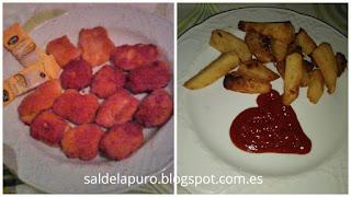 cena-burguer-casera-nuggets-pollopataas-deluxe