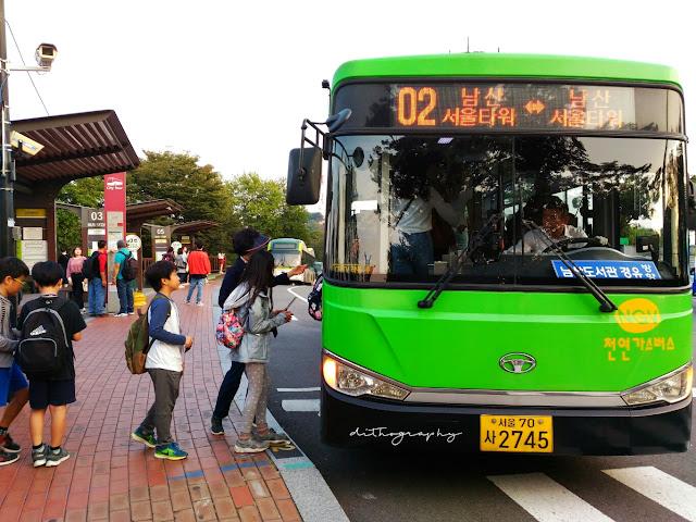 Jalan-Jalan ke Namsan Seoul Tower (남산서울타워) naik shuttle bus