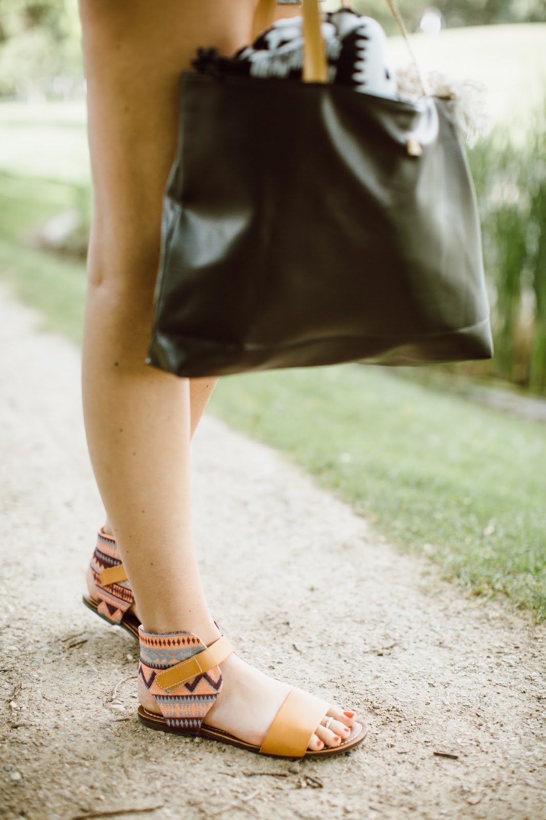 aztec sandals, black bag, Utah Fashion Blogger