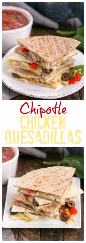 Cheesy Chipotle Chicken Quesadilla