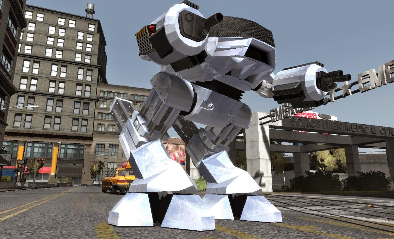 GTA X Scripting: GTA IV ED-209 Script Mod