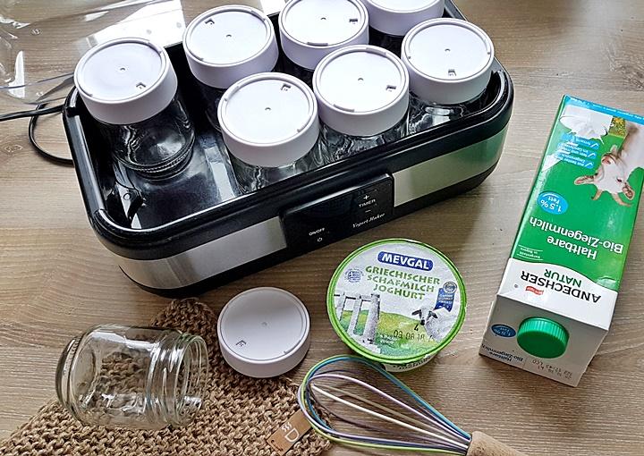 Joghurtbereiter, Ziegemilch, selbstgemachtes Ziegenjoghurt