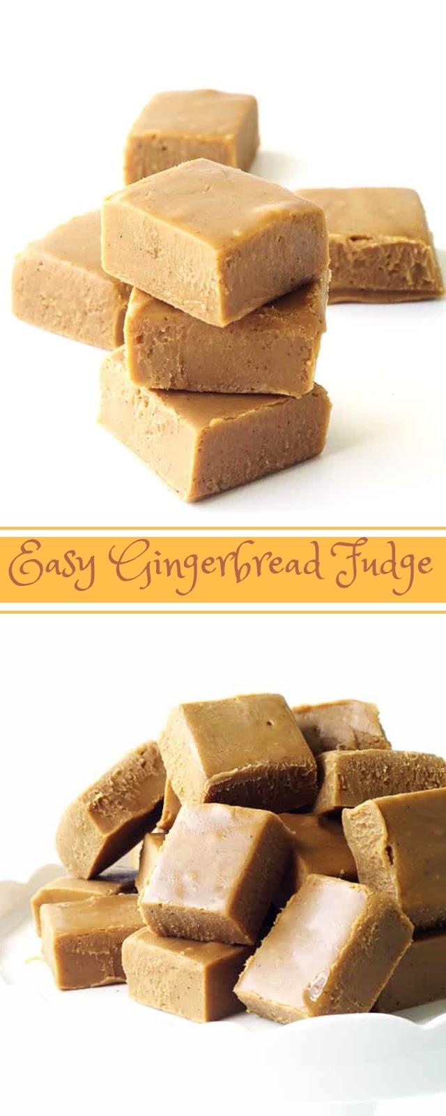 Easy Gingerbread Fudge