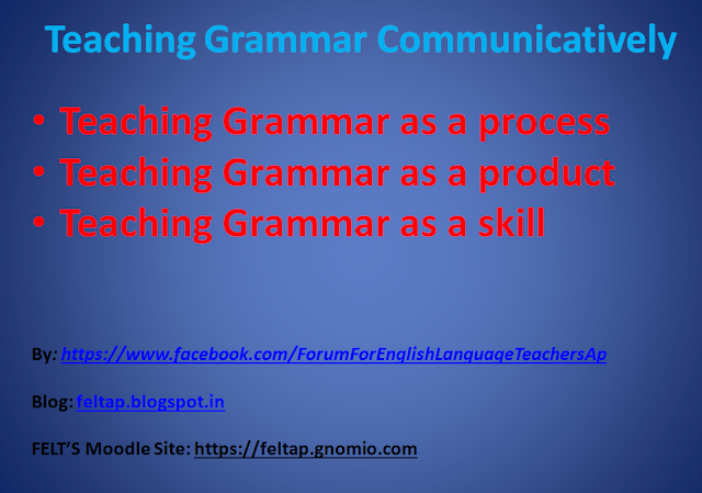 Teaching Grammar Communivatively
