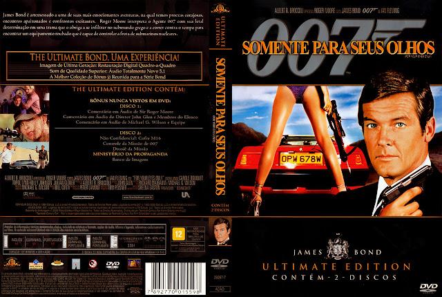 Capa DVD Somente Para Seus Olhos