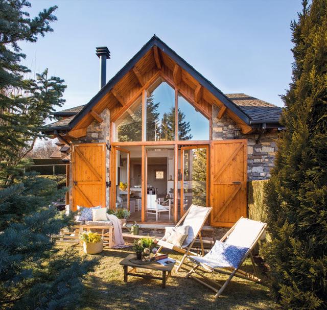 O frumoasa cabana la munte de numai 90 m²