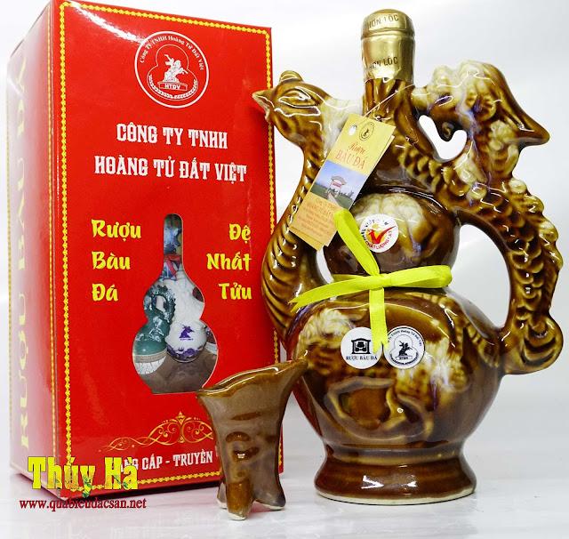 Rượu Bàu Đá bình phượng gốm sứ Bát Tràng làm quà biéu tết 2018