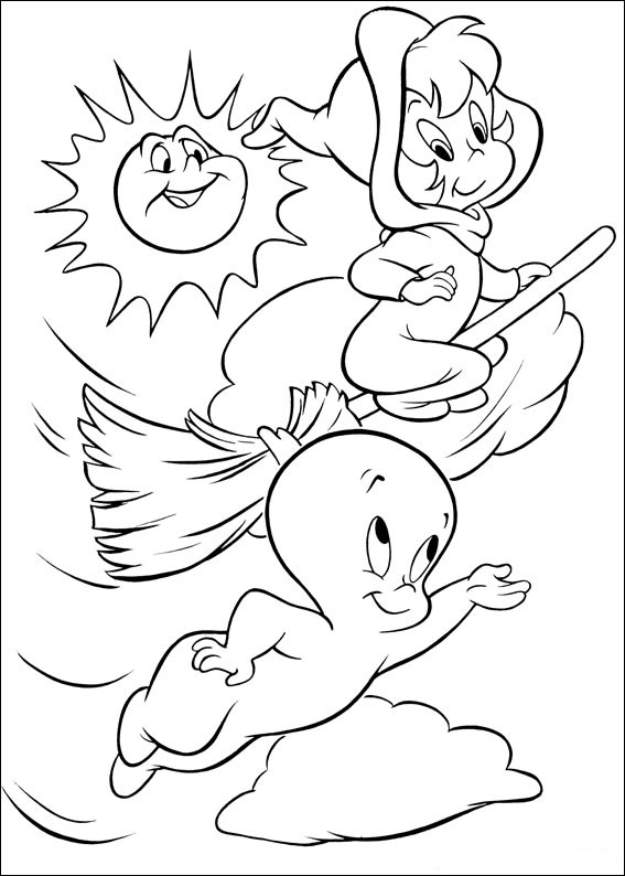 Fun Coloring Pages: Casper Ghost Coloring Pages