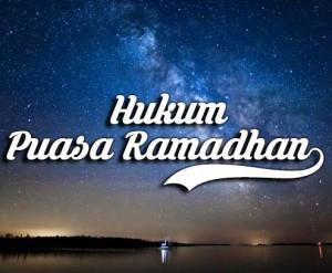 Hukum Puasa Pada Bulan Ramadhan