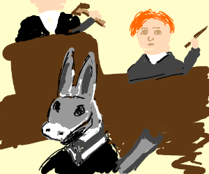 Job care donkey and lawyer