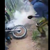 Vídeo: Moto pega fogo no município de Mairi