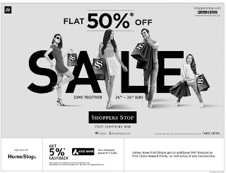 SHOPPERSTOP 50% DISCOUNT SALE
