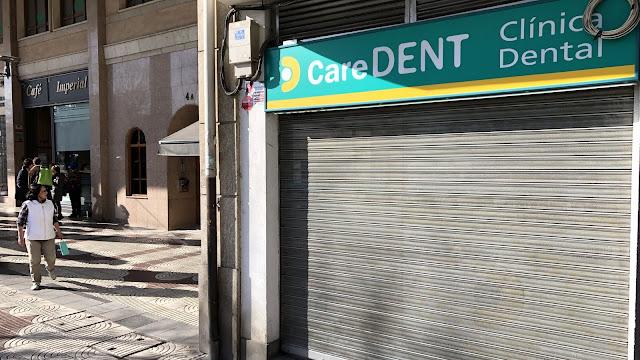Clínica dental cerrada