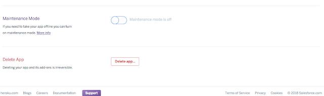 Heroku - where to delete app