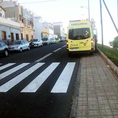 Dos personas han sido atropelladas, una de ellas un menor, en Las Palmas de Gran Canaria. calle Párroco Villar Reina