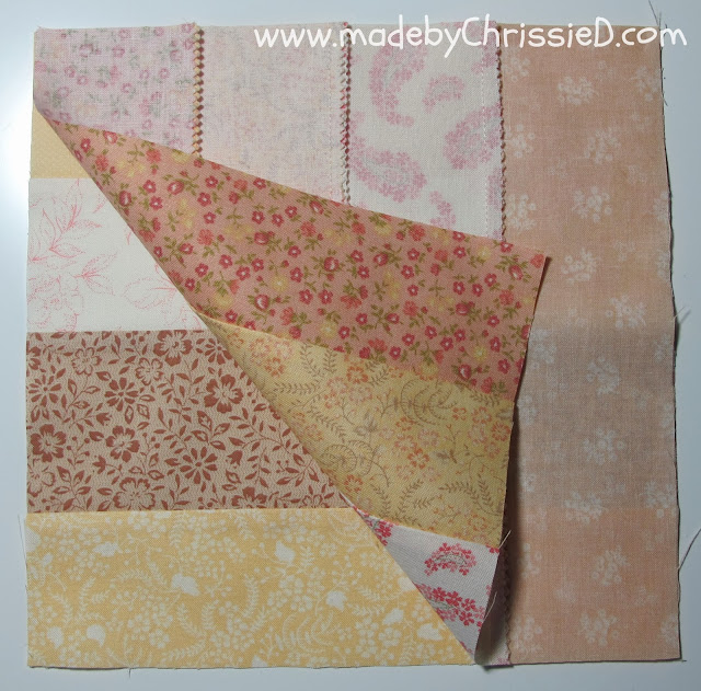 Autumn's Golden Gown - A Jelly Roll Quilt Tute by www.madebyChrissieD.com