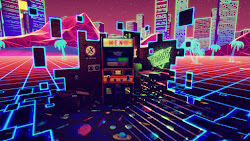 arcade neon retro gaming vr machine pc games wallpapers carpet synthwave retrogaming chalgyr cool menu 80s 1920 platforms 1080p