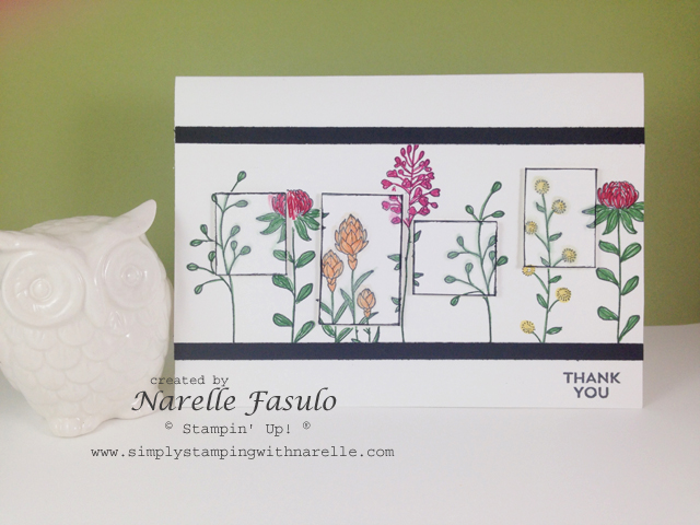 Flowering Fields - Free with a $90 purchase during Sale-A-Bration - available till March 31 - Simply Stamping with Narelle - purchase here - http://www3.stampinup.com/ECWeb/default.aspx?dbwsdemoid=4008228