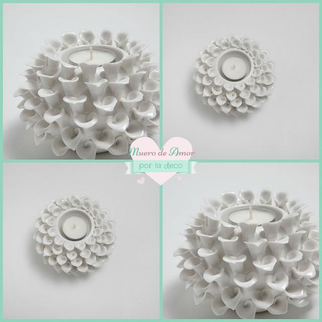 Decoración en blanco - portavelas- candelabros - farolillos-5