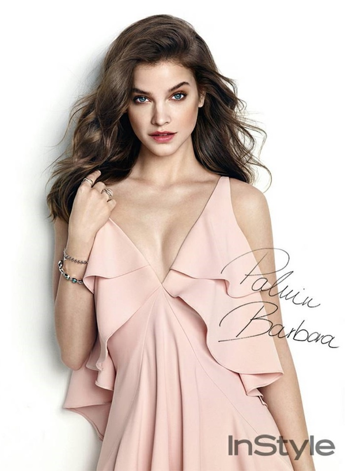 Barbara Palvin wears lingerie inspired designs for InStyle Korea