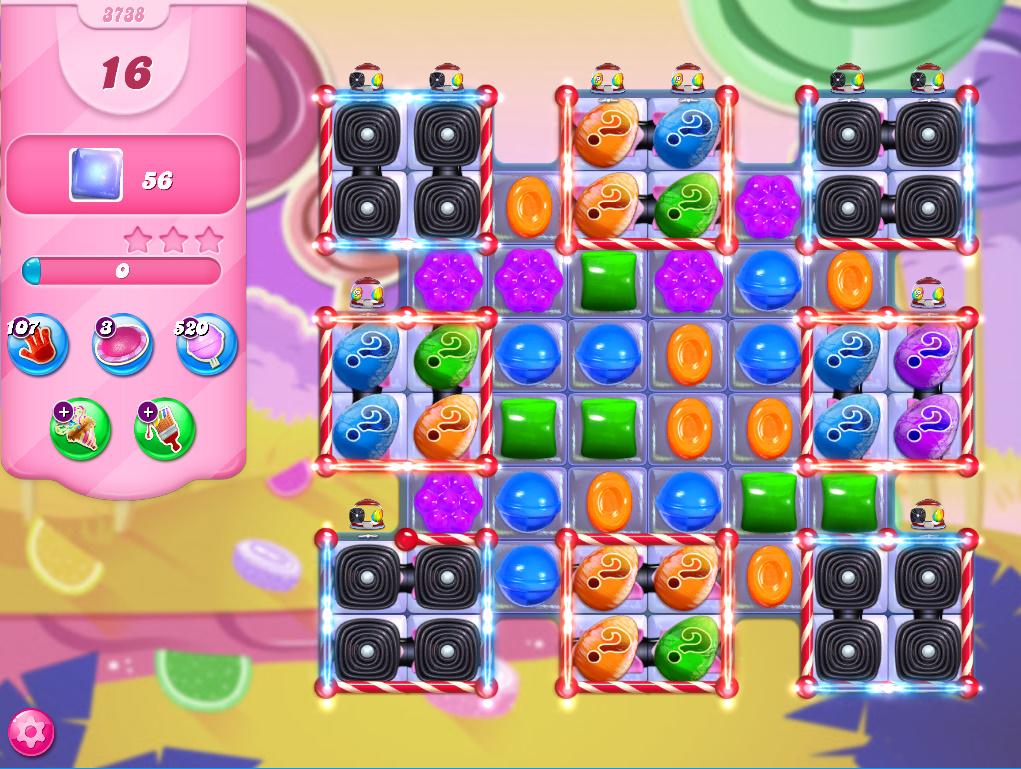 Candy Crush Saga level 3738