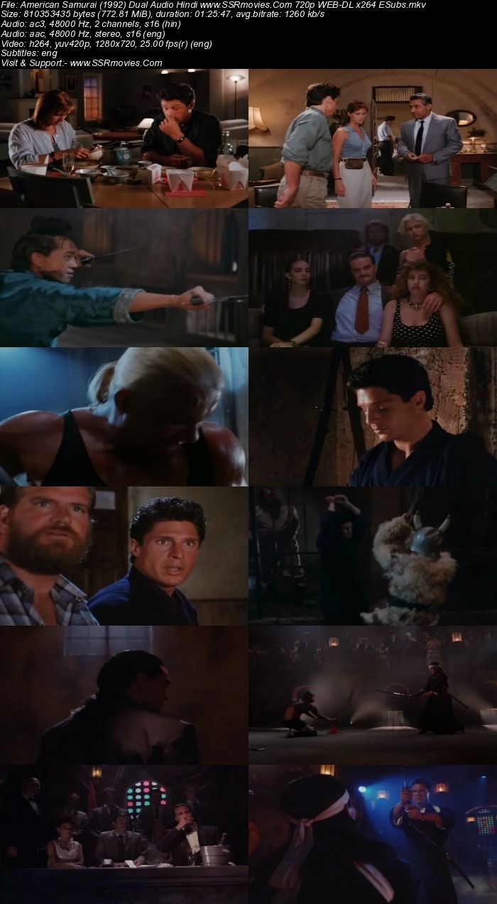 American Samurai (1992) Dual Audio Hindi 480p WEB-DL x264 300MB ESubs Movie Download