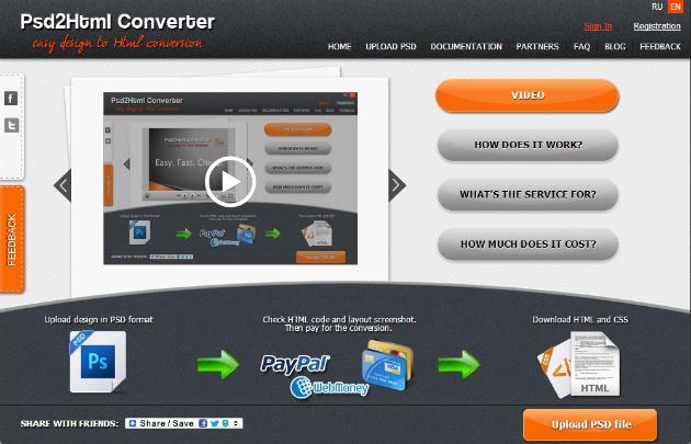 PSD 2 HTML Converter