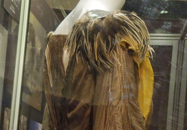 Maleficent movie feather costume detail