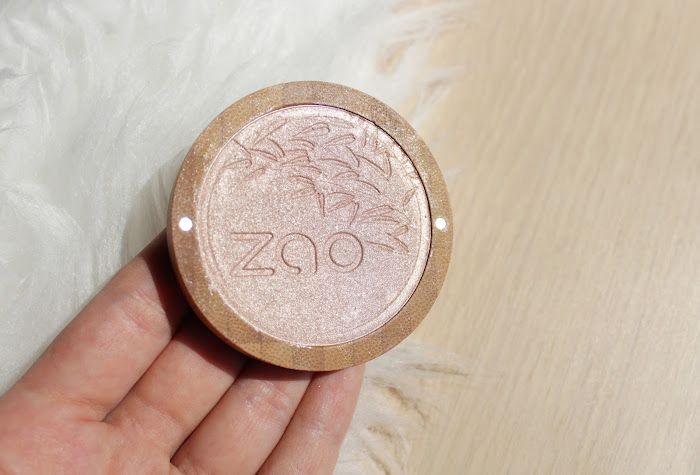 Organic vegan makeup ZAO highlighter review