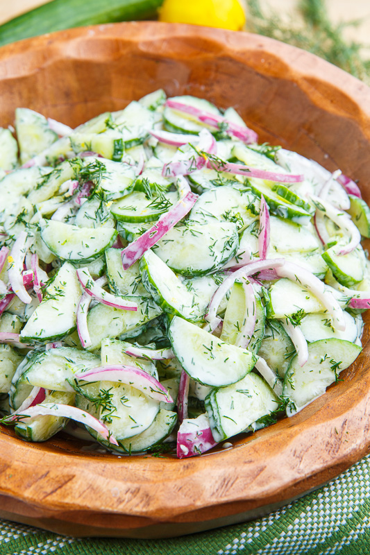 Creamy Dilled Cucumber Salad on Closet Cooking