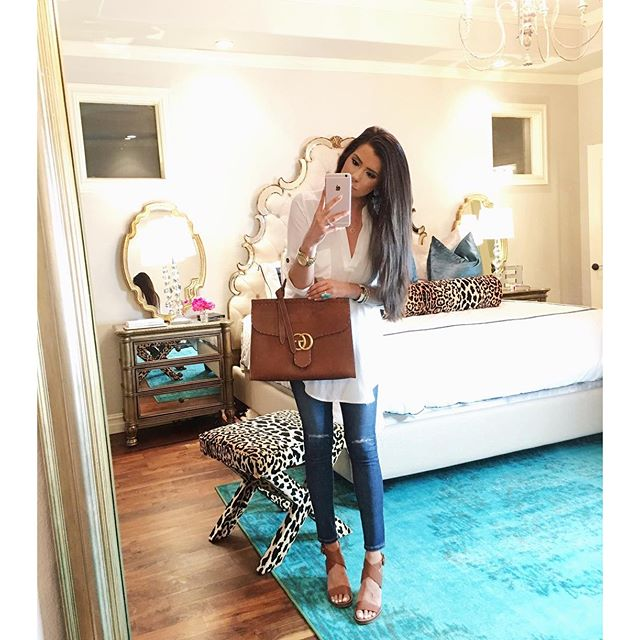 AG super skinny ankle jeans, lush nordstrom white tunic, dolce vita wedges, emily gemma bedroom, leopard print x bench, nuloom turquoise rug, the sweetest thing blog bedroom