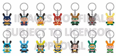 DC Comics Dunny Collection by Kidrobot - Justice League Dunny Keychain Series