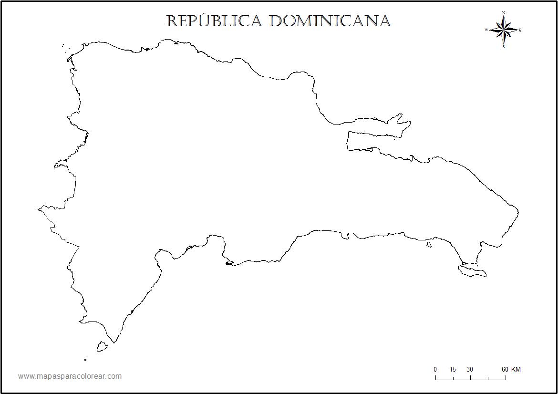 Mapa De Republica Dominicana En Blanco.Republica Dominicana Mapa De La Republica Dominicana