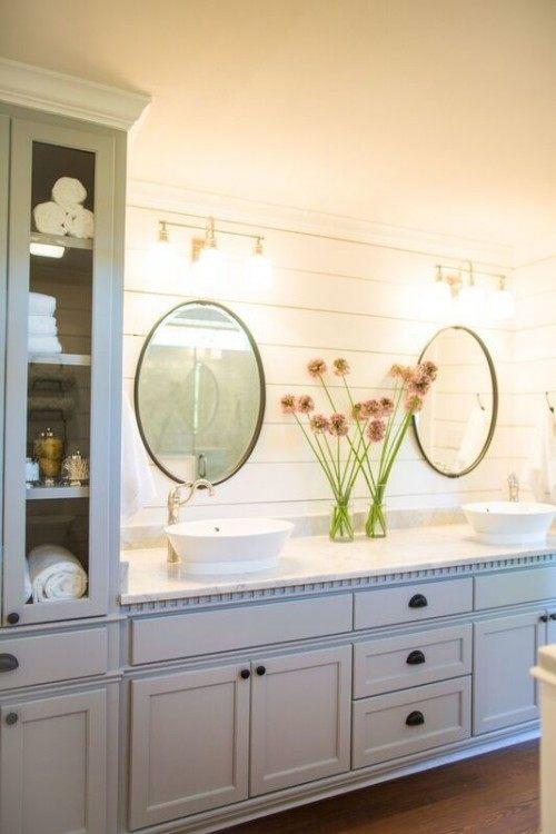Master Bathroom Cabinets Joanna Gaines