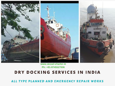 emergency dry dock in India, plan dry dock, ship repair, maintenance, works, new built, plate reapir of ship, engine work on board, anchorage reapirs