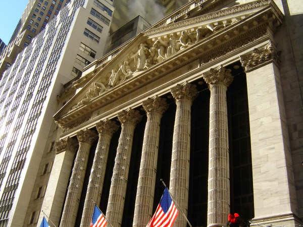 het beursgebouw aan Wall Street