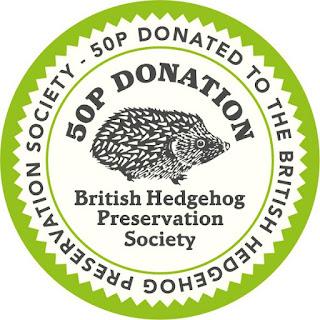 British Hedgehog Preservation Society Donation Badge