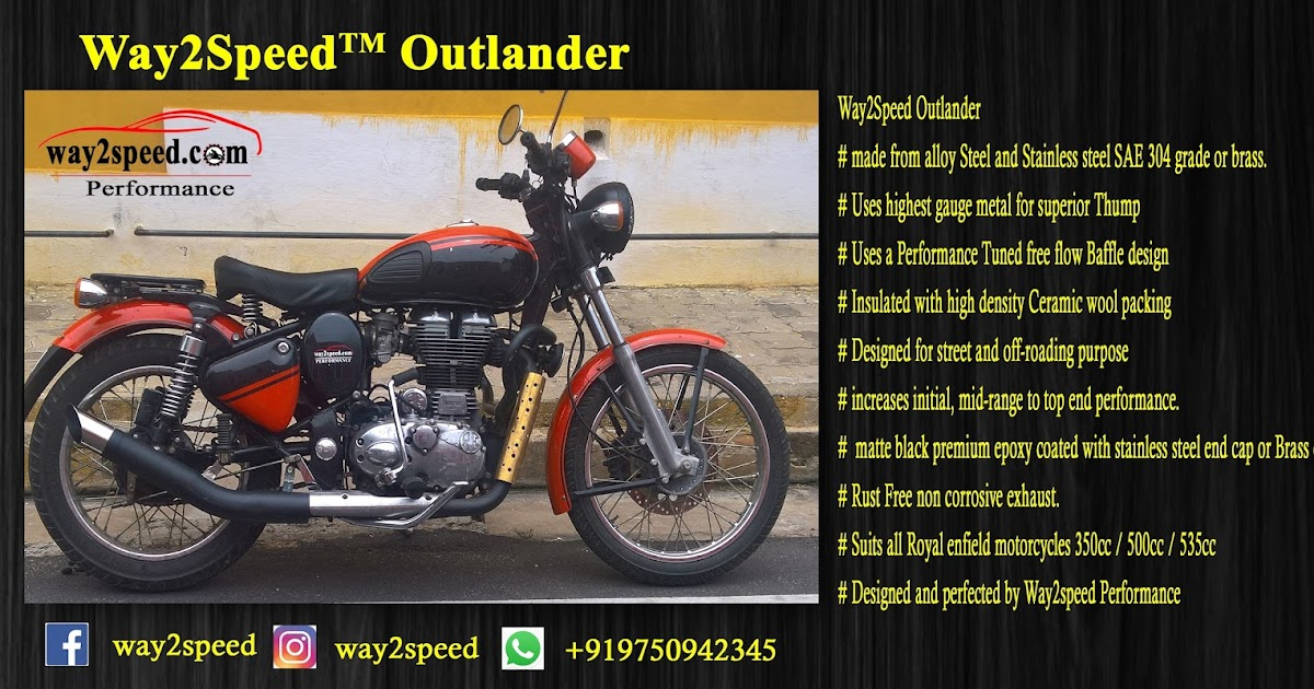 Royal Enfield Silencer Way2speed Outlander Way2speed