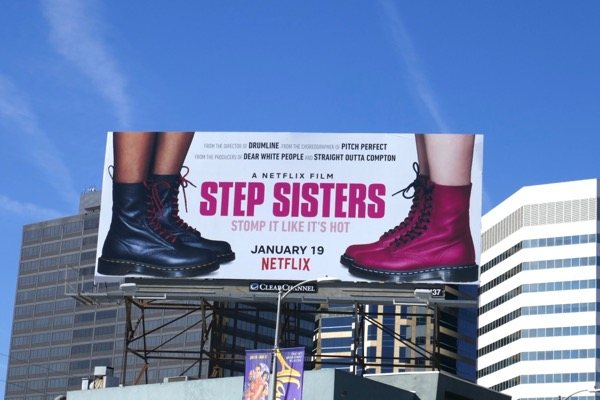 Step Sisters movie billboard