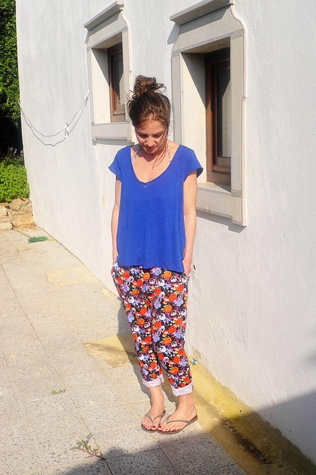 Stylonylon - Outfit Post - Florals + A Splash of Blue