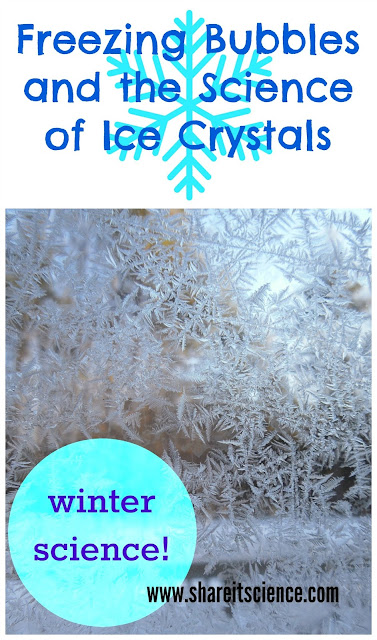winter science freezing bubbles ice crystal snowflake science