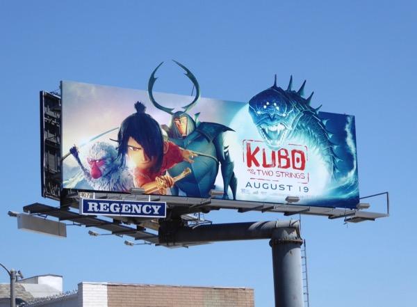 Kubo Two Strings movie billboard